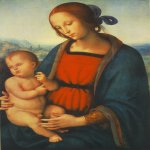 Pietro Perugino (1445-1523)  Madonna with Child  Oil on wood, 1501  27 1/2 x 20 inches (70 x 51 cm)  National Gallery of Art, Washington, DC, USA